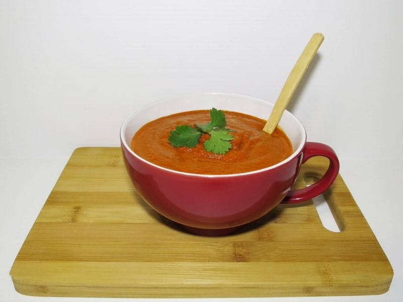 Raw Red Capsicum Soup